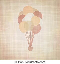 Retro vector background with balloons.
