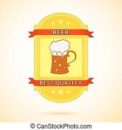 Retro vector beer label