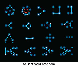 Retro Vector Control Icons