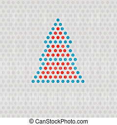 Retro Vector Dots Christmas Tree