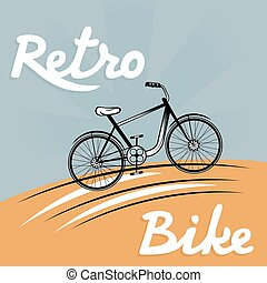 retro vector illustration of  bicycle