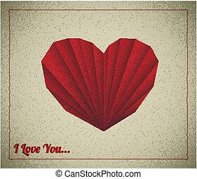 Retro vector love card