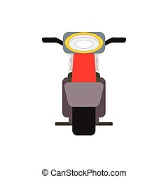 Retro vector moped scooter illustration front view