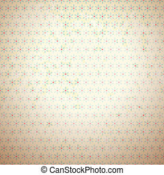 Retro vector pattern (tiling). Fond red, beige and blue colors. Endless texture can be used for printing onto fabric and paper or invitation. Dot, flower shape.
