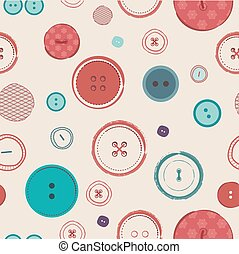 retro Vector seamless pattern. Bright colors buttons on dark background. Ideal for textile, wallpaper, wrapping, web pages, etc.