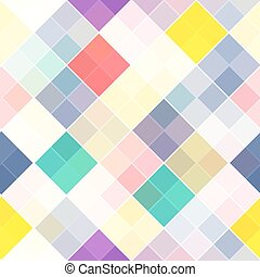 Retro vector seamless pattern. Colorful mosaic banner. Repeating geometric tiles with colored  rhombus.
