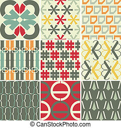 Retro vector seamless patterns