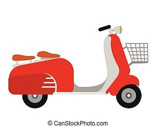 fahrrad motorrad weinlese abbildung vektor design. Black Bedroom Furniture Sets. Home Design Ideas