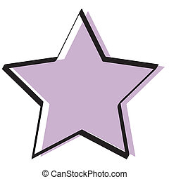 retro, vendange, étoile, fond