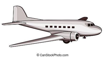 retro, verkehrsflugzeug