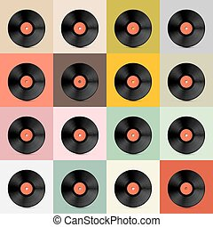retro, -, vindima, vetorial, registro vinil, disco, modelo