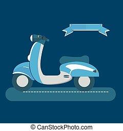 Retro, vintage, authenticity scooter icon