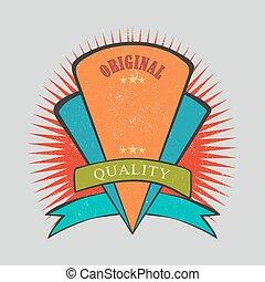 Retro vintage badge with texture
