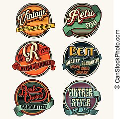 Retro vintage badges and labels collection.eps