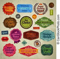 Retro vintage badges