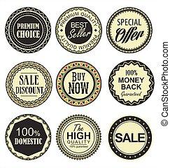 Retro vintage badges collection.eps
