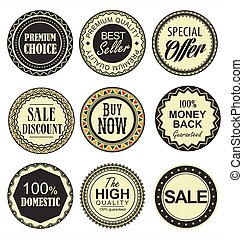 Retro vintage badges collection.eps