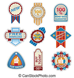 Retro Vintage Badges set