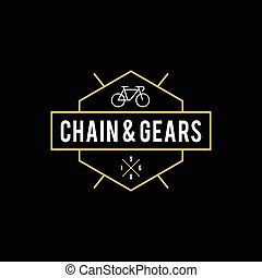 Retro Vintage Bicycle Label Design