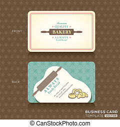 retro vintage business card for bakery house - Bakery Shop...