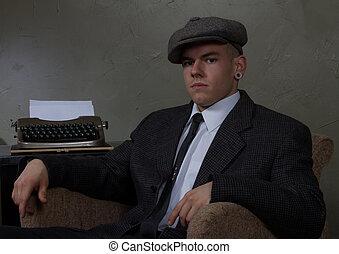 retro vintage business man