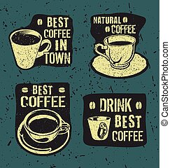Retro vintage coffee labels.eps