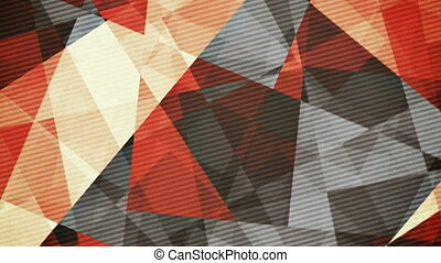 Retro vintage coloured rotating triangles abstract background