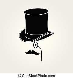 Retro, vintage gentleman icon. Vector illustration