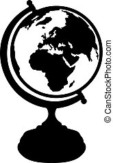 Retro vintage Globe silhouette