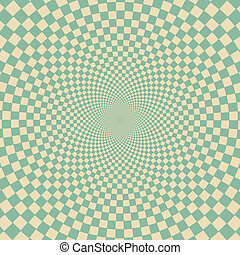 Retro vintage grunge hypnotic background. vector illustration