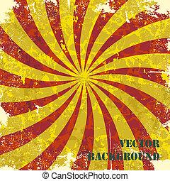Retro vintage grunge spiral background. Vector illustration.