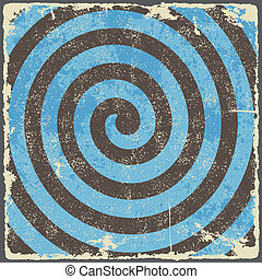 Retro vintage grunge spiral background. Vector illustration.
