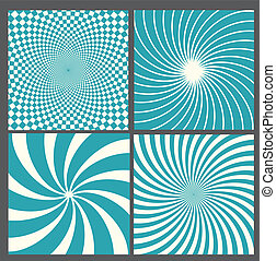 retro vintage hypnotic background.
