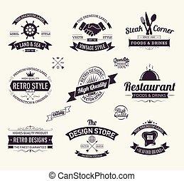 Retro vintage labels collection