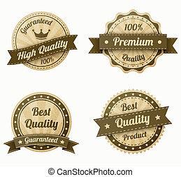 retro vintage labels set. realistic paper texture. eps10...