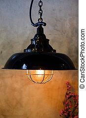 Retro vintage light bulb