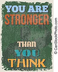 Retro Vintage Motivational Quote Poster. Vector illustration...