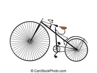 Retro vintage old bike.Retro Bicycle Isolated on white background. Vector