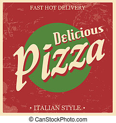Retro Vintage Pizza poster
