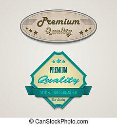 Retro vintage premium web design elements