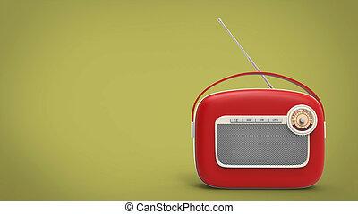 Retro vintage red radio