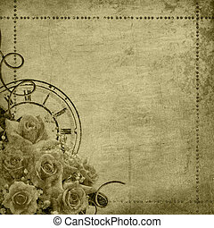 Retro vintage romantic background