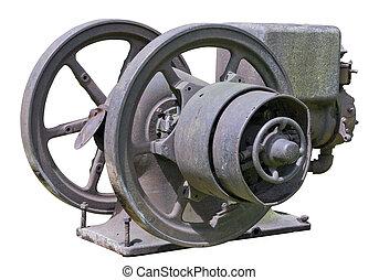 Retro vintage rusty diesel engine