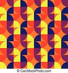 Retro vintage seamless pattern. Vector illustration