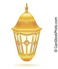 retro vintage street light vector illustration