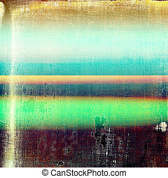Retro vintage style background or faded texture with different color patterns: blue; green; yellow (beige); purple (violet); red (orange)
