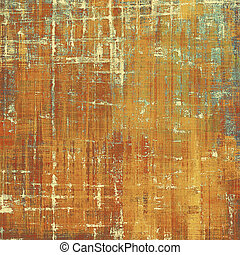 Retro vintage style background or faded texture with different color patterns: yellow (beige); brown; blue; red (orange)