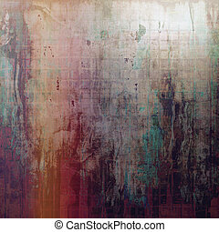 Retro vintage style background or faded texture with different color patterns: yellow (beige); brown; green; red (orange); purple (violet); gray