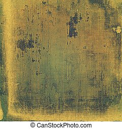 Retro vintage style elements on aged grunge texture. With different color patterns: green; yellow (beige); brown; gray