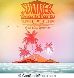 Retro Vintage Summer Poster Design